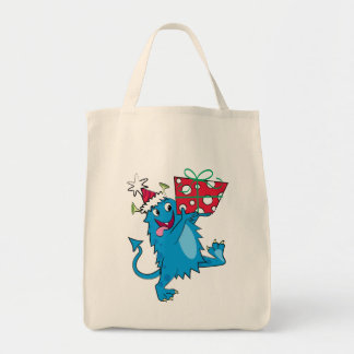 Monster with Christmas Gift Bags