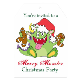 Monster with Gingerbread Man Card
