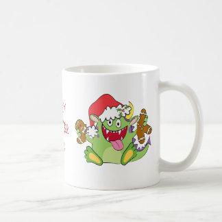 Monster with Gingerbread Man Coffee Mug