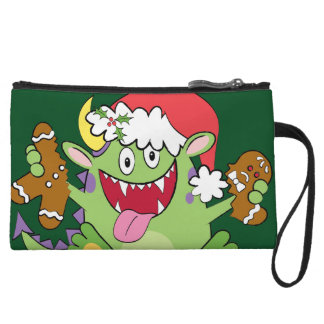 Monster with Gingerbread Man Wristlet