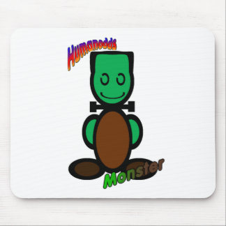 Monster with logos mouse mats