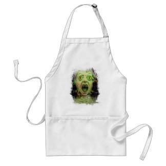 Monster Zombie Green Creepy Horror Adult Apron