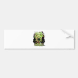 Monster Zombie Green Creepy Horror Bumper Sticker