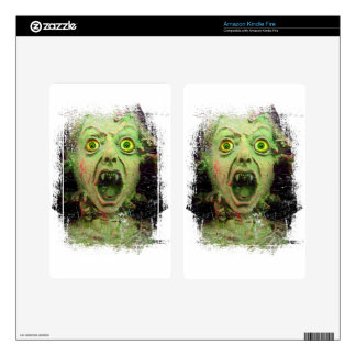 Monster Zombie Green Creepy Horror Decals For Kindle Fire