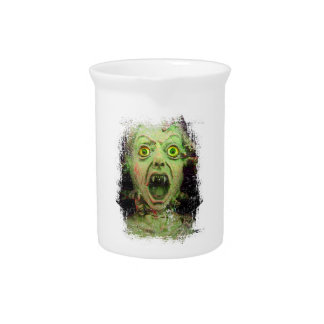 Monster Zombie Green Creepy Horror Drink Pitchers