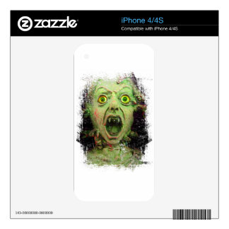 Monster Zombie Green Creepy Horror iPhone 4S Decal