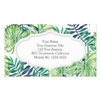Monstera Deliciosa Hawaiian Island Tropics Leaves Business Card