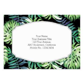 Monstera Deliciosa Hawaiian Island Tropics Leaves Large Business Card