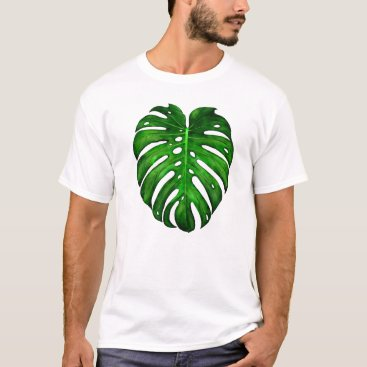 Halloween Themed Monstera Deliciosa Painting T-shirt