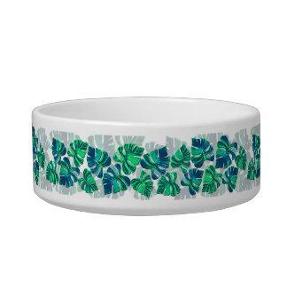 Monstera Delliciosa - Turquoise in White  Bowl