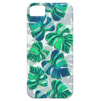 Monstera Delliciosa - Turquoise in White iPhone SE/5/5s Case