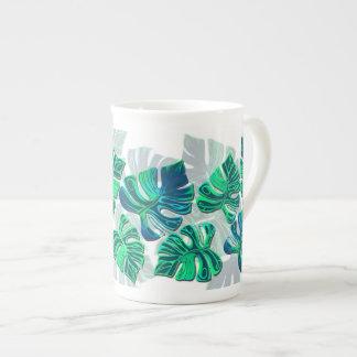 Monstera Delliciosa - Turquoise in White Tea Cup