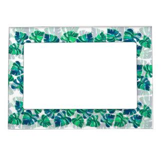 Monstera Delliciosa - Turquoise'n White Magnetic Photo Frame
