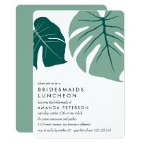 Monstera Green | Bridesmaids Luncheon Wedding Invitation