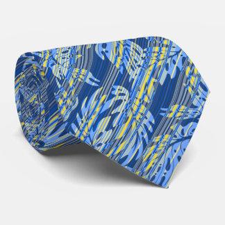 Monstera Leaf Hawaiian Stripe Two-sidedPrinted Neck Tie