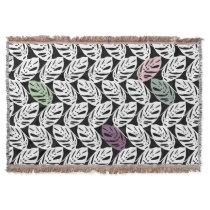 Monstera obliqua Tropical Plant Leaves -Blanket #1 Throw Blanket