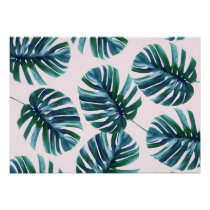 "Monstera Pattern 28"" X 20"" Poster"