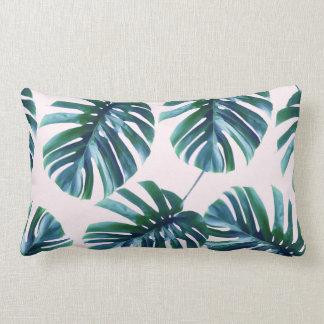 Monstera Pattern Lumbar Pillow #zazzle