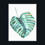 """monstera tropical leaf palm modern watercolor canvas print<br><div class=""""desc"""">Monstera tropical leaf palm modern watercolor canvas. Great for yourself or as a gift! Personalize it by adding your own name or other text to it. See my store for more items with this image. If you are seeing a design that is not available on your desired product, please do...</div>"""