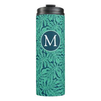 Monstera Tropical Leaf Pattern | Monogram Thermal Tumbler