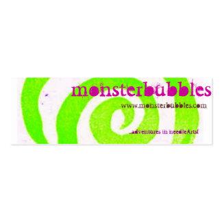 monsterbubbles tarjetas de visita mini