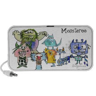 Monstereo Seven Cartoon Monstars Mini Speakers