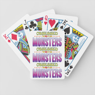 Monsters 2 Obsessed Bicycle Playing Cards