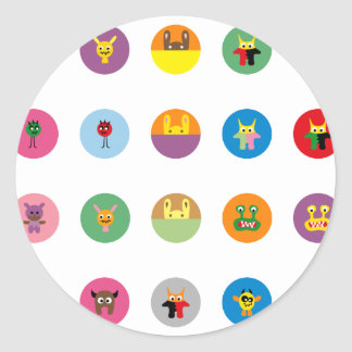 Monsters 35 classic round sticker