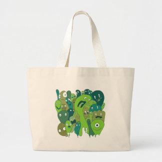 Monsters and ghosts make an awesome pattern jumbo tote bag