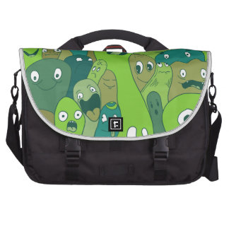 Monsters and ghosts make an awesome pattern laptop commuter bag