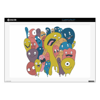 Monsters and ghosts make an awesome pattern laptop decal