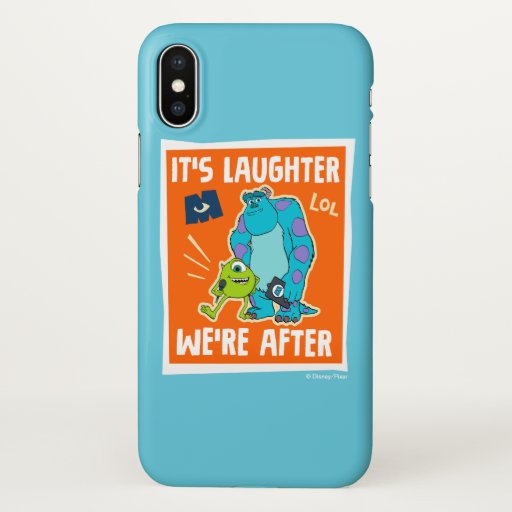 Monsters at Work | It's Laughter We're After iPhone X Case