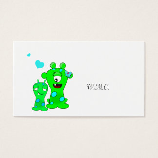 Monsters, Big Sister, Little Brother Cartoon Business Card