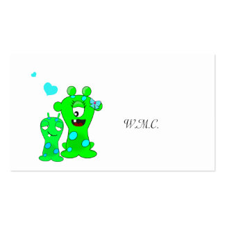 Monsters, Big Sister, Little Brother Cartoon Double-Sided Standard Business Cards (Pack Of 100)