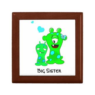 Monsters, Big Sister, Little Brother Cartoon Keepsake Box