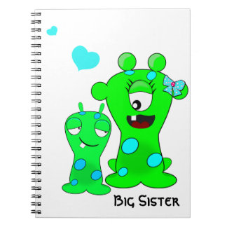 Monsters, Big Sister, Little Brother Cartoon Notebook