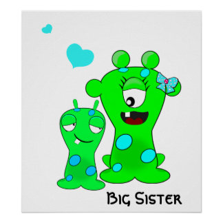 Monsters, Big Sister, Little Brother Cartoon Posters