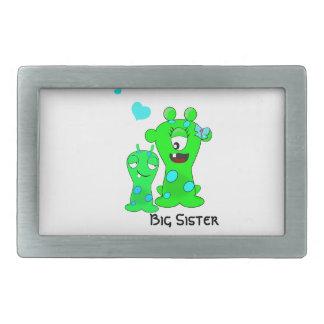 Monsters, Big Sister, Little Brother Cartoon Rectangular Belt Buckle