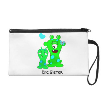 Monsters, Big Sister, Little Brother Cartoon Wristlet