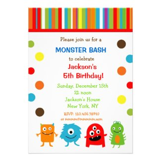 Monsters Birthday Invitations