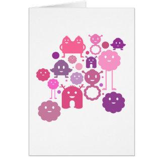 Monsters Blank Card