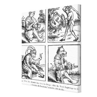 Monsters born from the Deluge Canvas Print