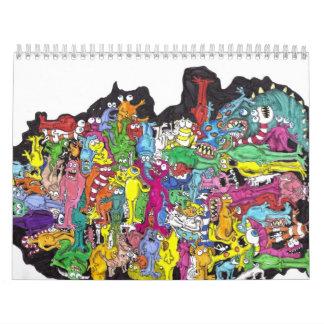 monsters calendar
