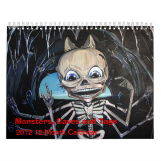 Monsters Caves and Tags 2012 12 Month Calendar
