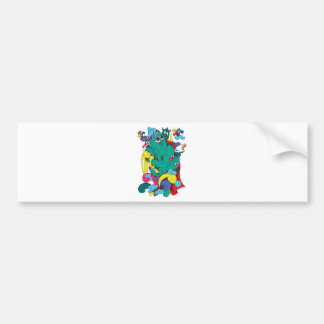 Monsters & Creatures Fantasy Cartoon Art Bumper Stickers