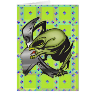 Monsters From Outer Space Card