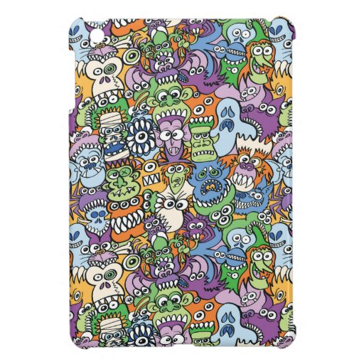 Monsters get spooky in a Halloween pattern design Case For The iPad Mini