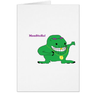 MonSteRs! Greeting Cards