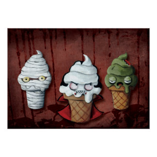 Monsters Halloween Team! Poster