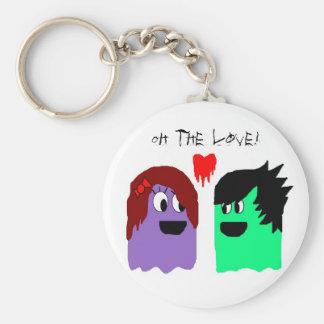 monsters in love, Oh the love! Basic Round Button Keychain